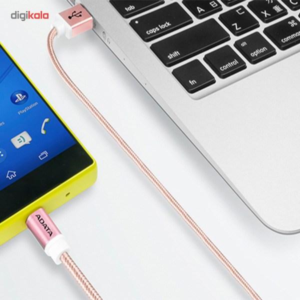کابل تبدیل USB به microUSB ای دیتا مدل Reversible Aluminum به طول 1 متر main 1 24