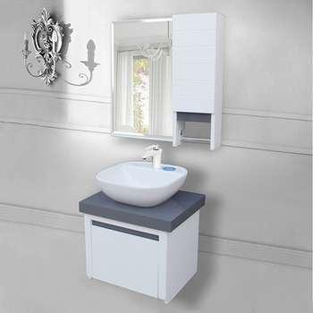ست کابینت و روشویی مدل روشویی 5050 به همراه آیینه باکس