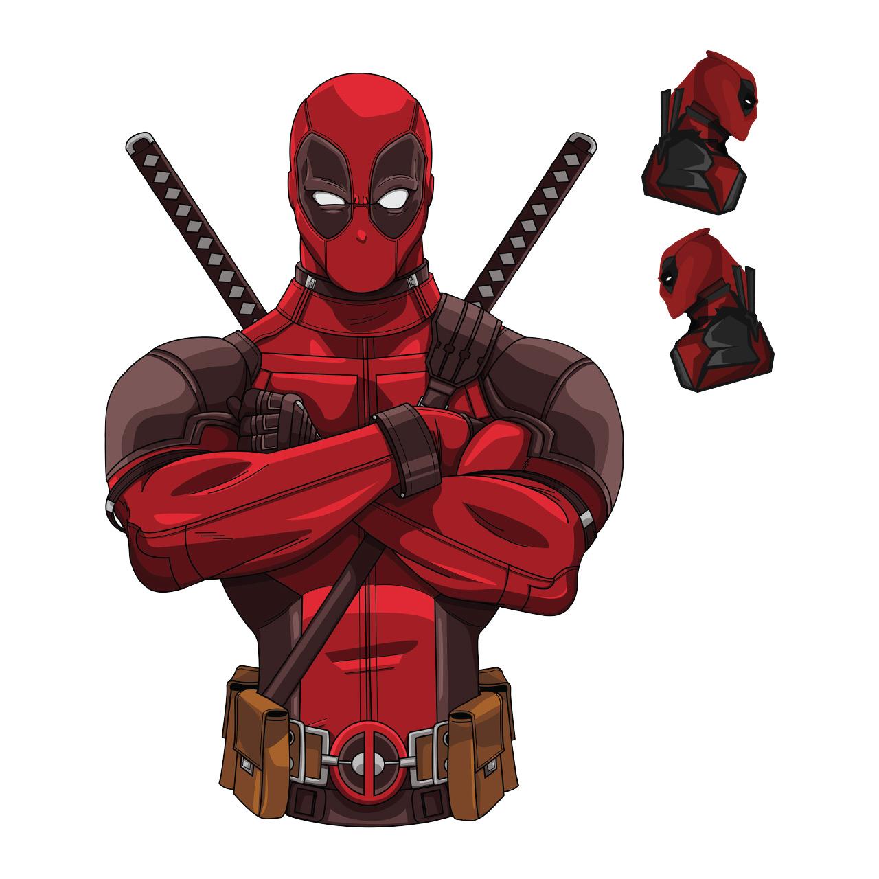 برچسب پلی استیشن ۴ طرح Deadpool-02 مجموعه ۳ عددی