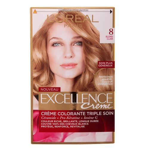 کیت رنگ مو لورآل شماره 8 Excellence
