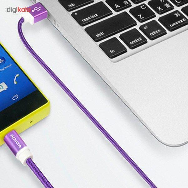 کابل تبدیل USB به microUSB ای دیتا مدل Reversible Aluminum به طول 1 متر main 1 30