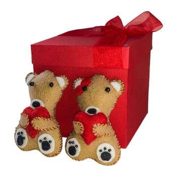 ست هدیه عروسک مدل خرس مهرگان