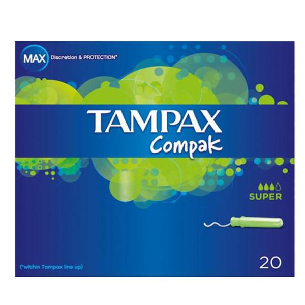 تامپون تامپکس مدل Compak Super بسته 20 عددی