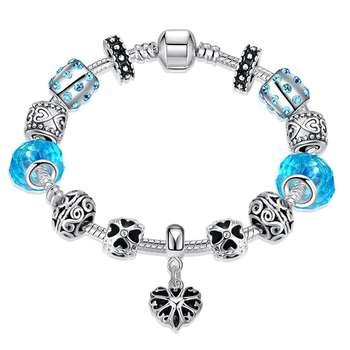 دستبند مورانو طرح ویکتوریا سواروسکی کد H033 تک سایز