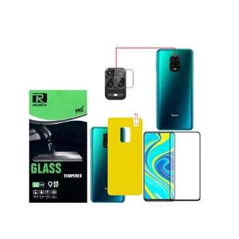 محافظ صفحه نمایش و پشت گوشی روبیکس مدل ALL مناسب برای گوشی موبایل شیائومی Redmi note 9 pro/pro max به همراه محافظ لنز دوربین