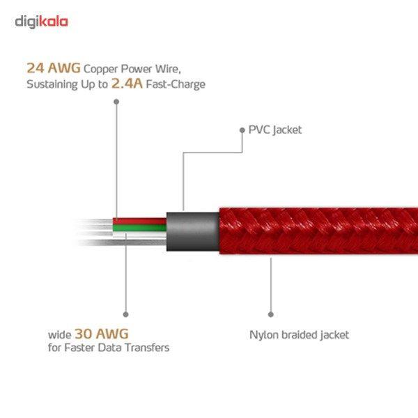 کابل تبدیل USB به microUSB ای دیتا مدل Reversible Aluminum به طول 1 متر main 1 34