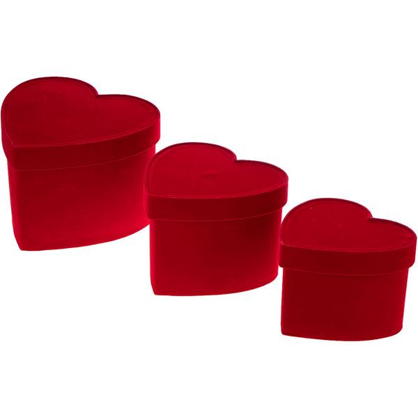 جعبه هدیه کد 42 طرح قلب مجموعه 3 عددی