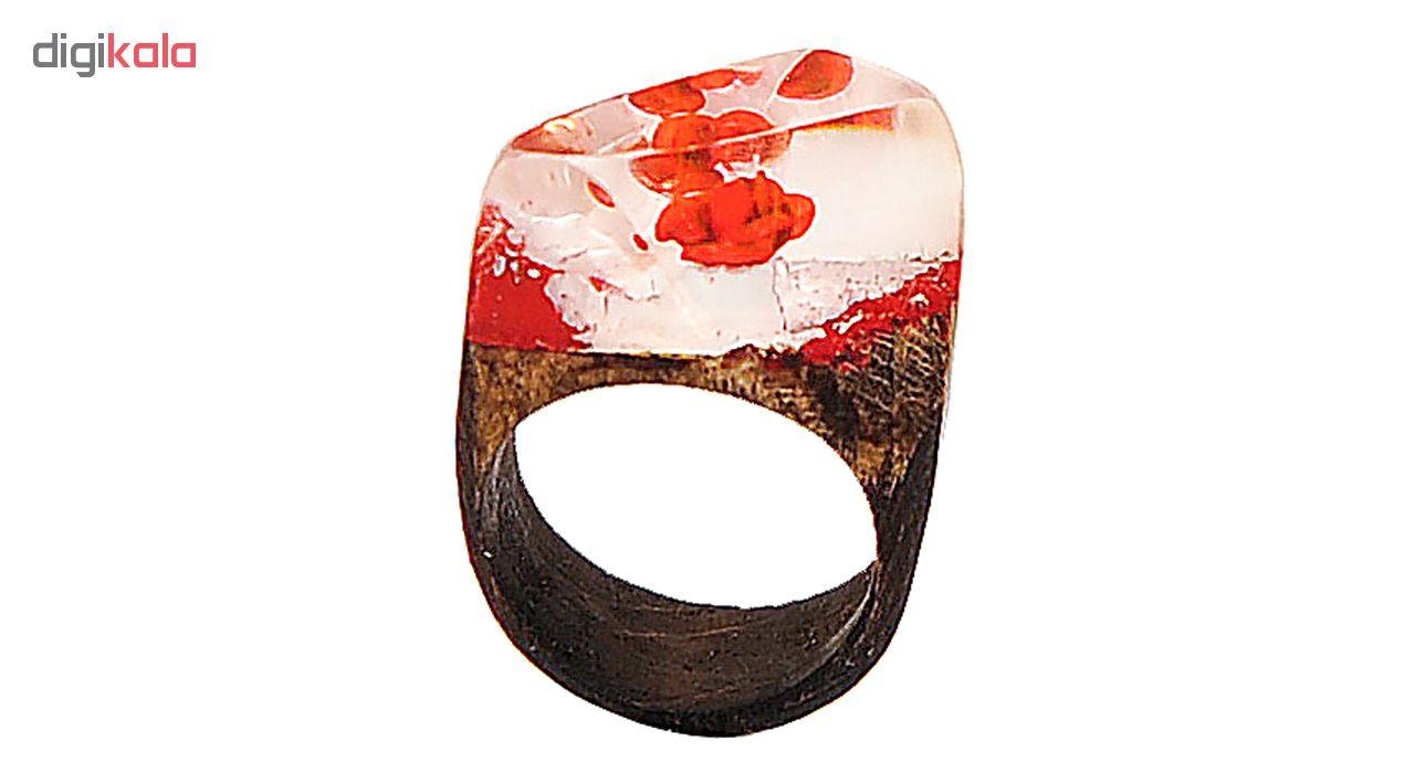 انگشتر طرح گل سرخ مدل Q5