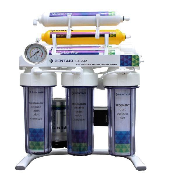 دستگاه تصفیه کننده آب پنتیر 7مرحله قلیایی شفاف مدل TLC-7518