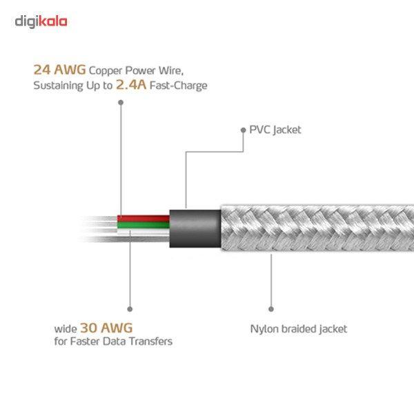 کابل تبدیل USB به microUSB ای دیتا مدل Reversible Aluminum به طول 1 متر main 1 40