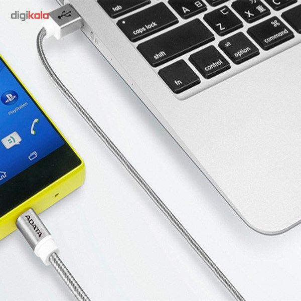 کابل تبدیل USB به microUSB ای دیتا مدل Reversible Aluminum به طول 1 متر main 1 42
