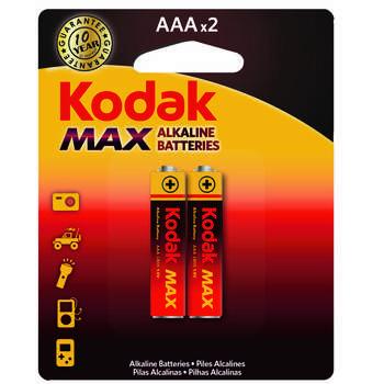 باتری نیم قلمی کداک مدل MAX LR03 بسته 2 عددی