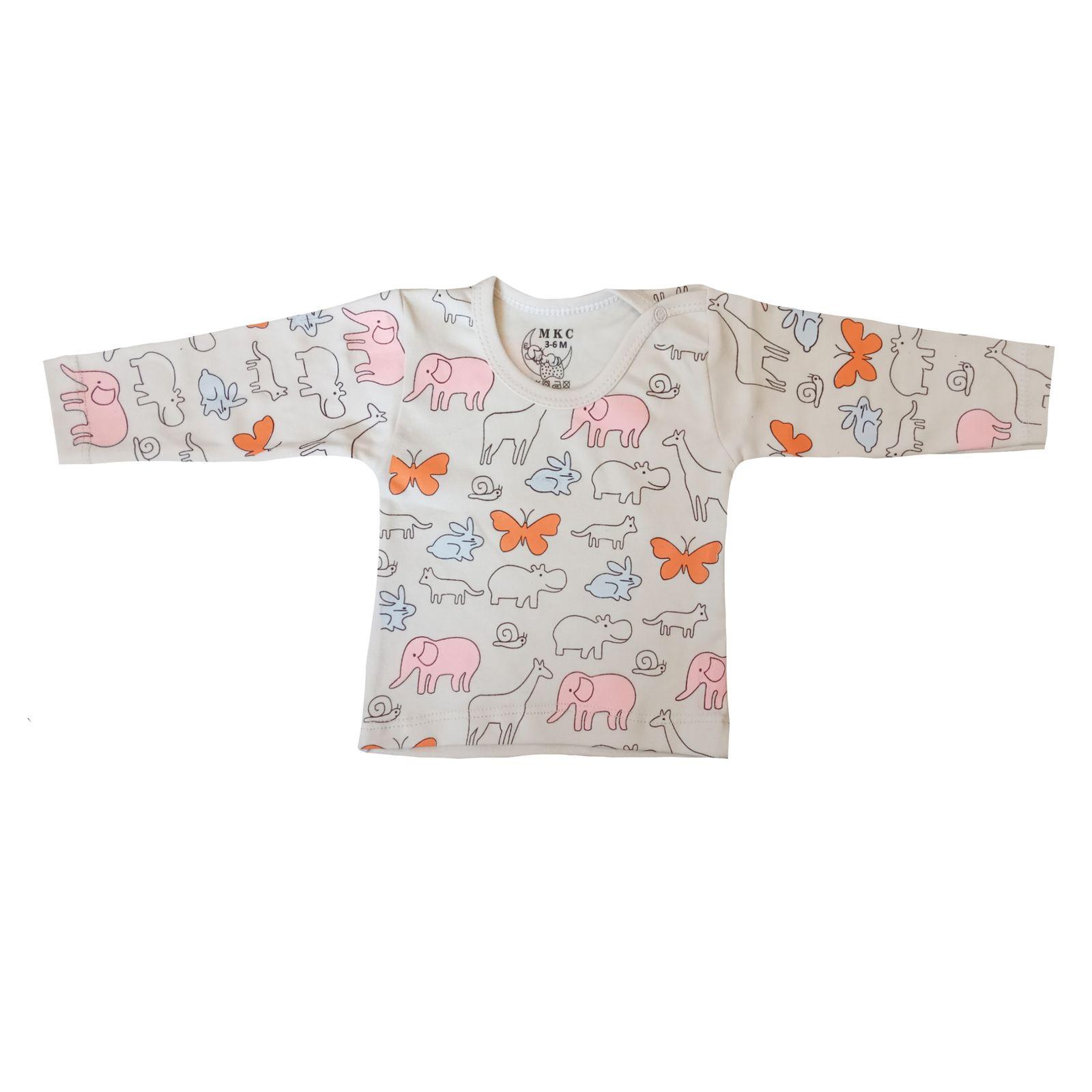 ست تی شرت و شلوار نوزادی کد 409 -  - 4