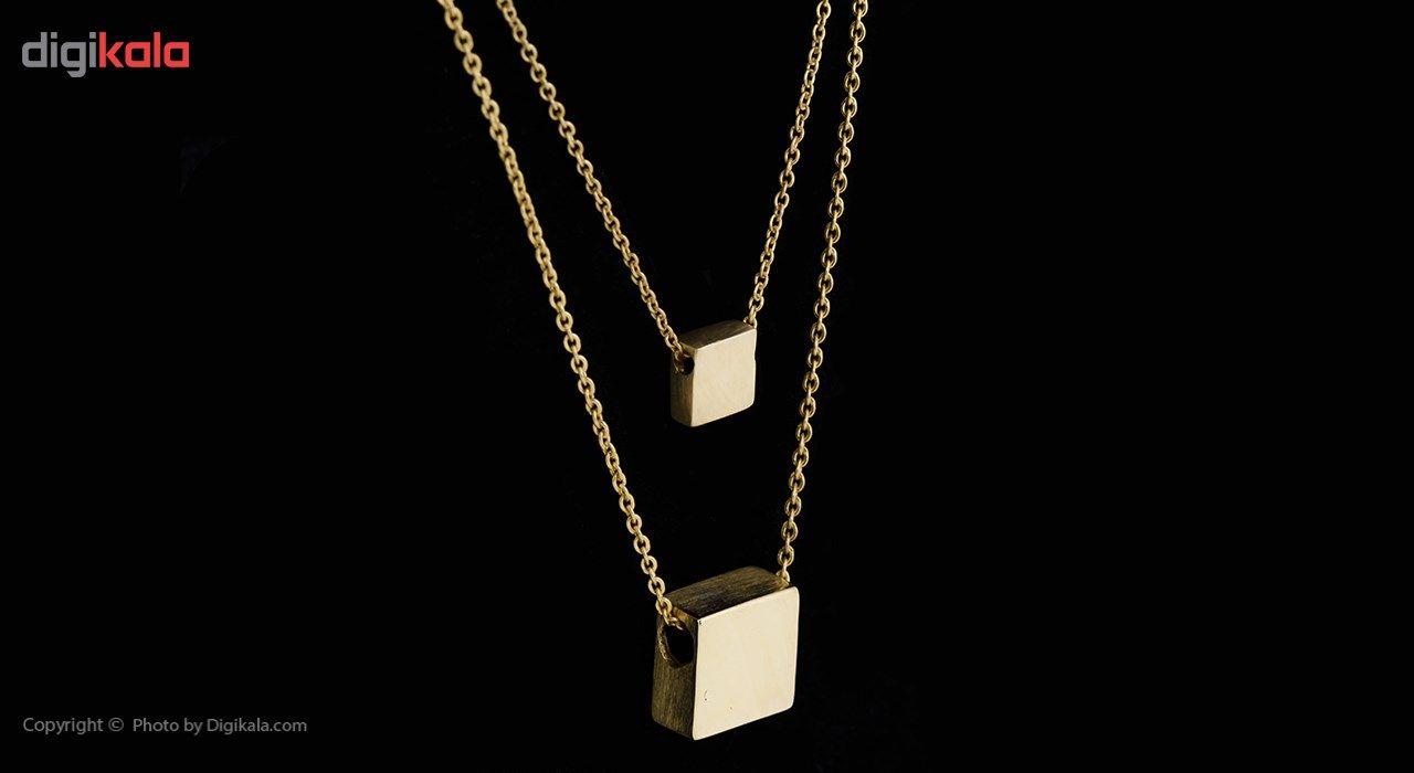 گردنبند طلا 18 عیار ماهک مدل MM0427 -  - 3