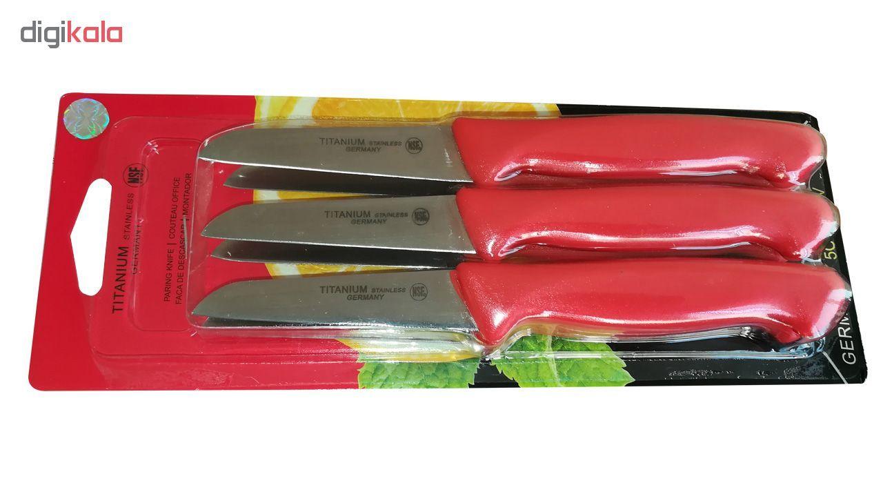 کارد میوه خوری تیتانیوم کد T10 بسته 6 عدد main 1 2