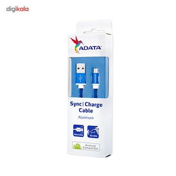 کابل تبدیل USB به microUSB ای دیتا مدل Reversible Aluminum به طول 1 متر main 1 47