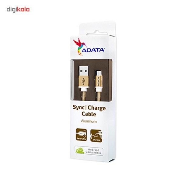 کابل تبدیل USB به microUSB ای دیتا مدل Reversible Aluminum به طول 1 متر main 1 48