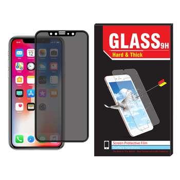 محافظ صفحه نمایش فول چسب Hard and thick مدل privacy مناسب برای گوشی موبایل اپل IPhone Xs max