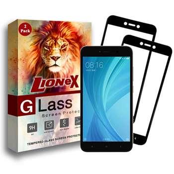 محافظ صفحه نمایش 5D لایونکس مدل USS مناسب برای گوشی موبایل شیائومی Redmi Note 5A Prime / Xiaomi Redmi Y1 / Note 5A بسته دو عددی