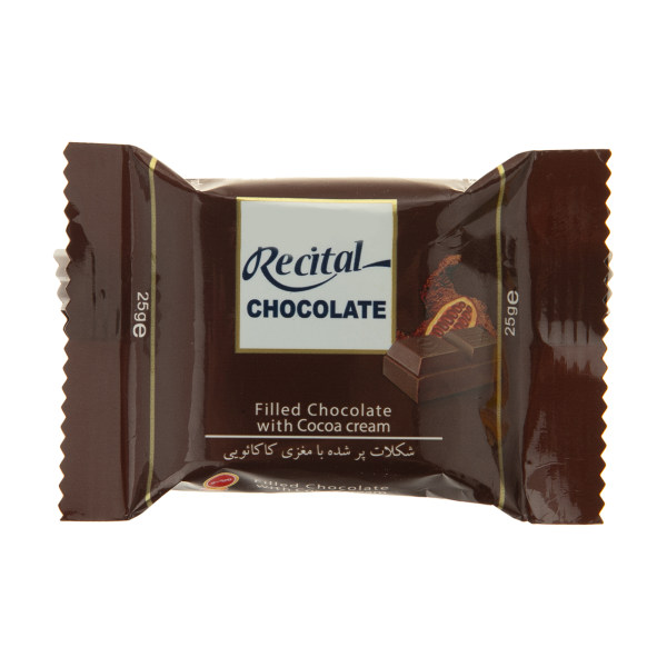 شکلات پرشده با مغزی کاکائویی مینو مقدار 25 گرم