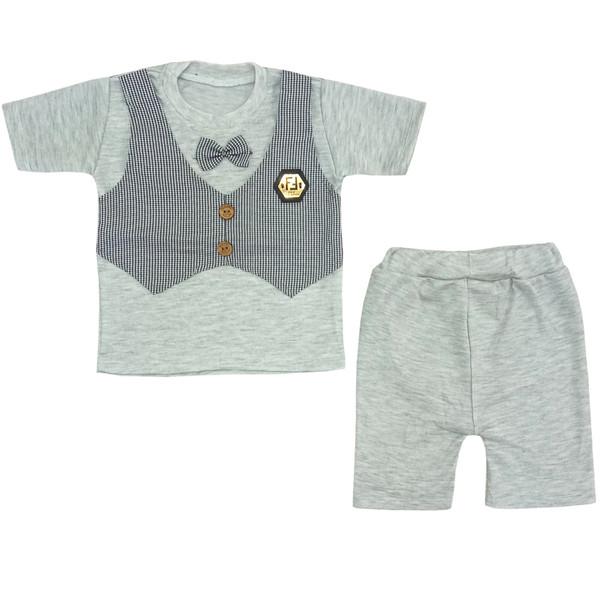 ست تی شرت و شلوارک بچگانه مدل p87