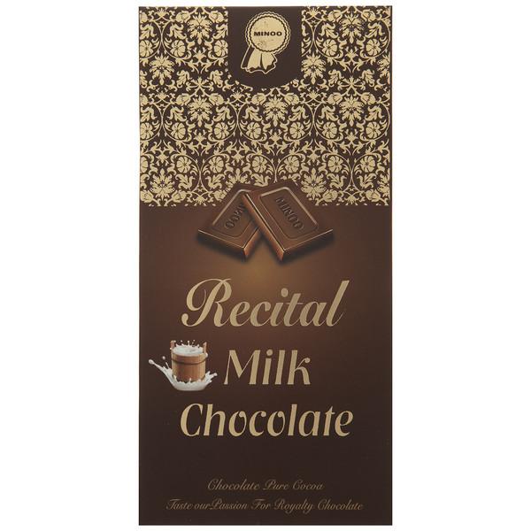 شکلات شیری رسیتال مینو مقدار 100 گرم