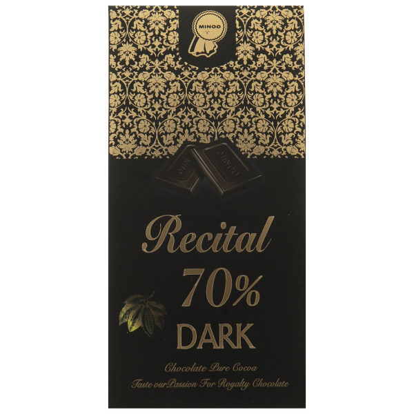 شکلات تلخ 70 درصد رسیتال مینو مقدار 100 گرم