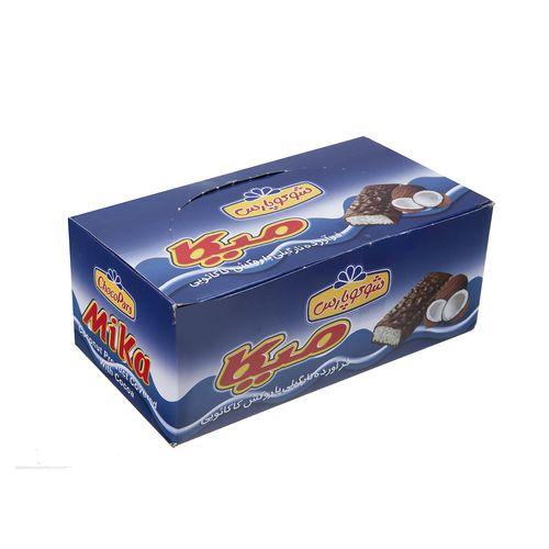 فرآورده نارگیلی با روکش کاکائویی میکا بسته 24 عددی