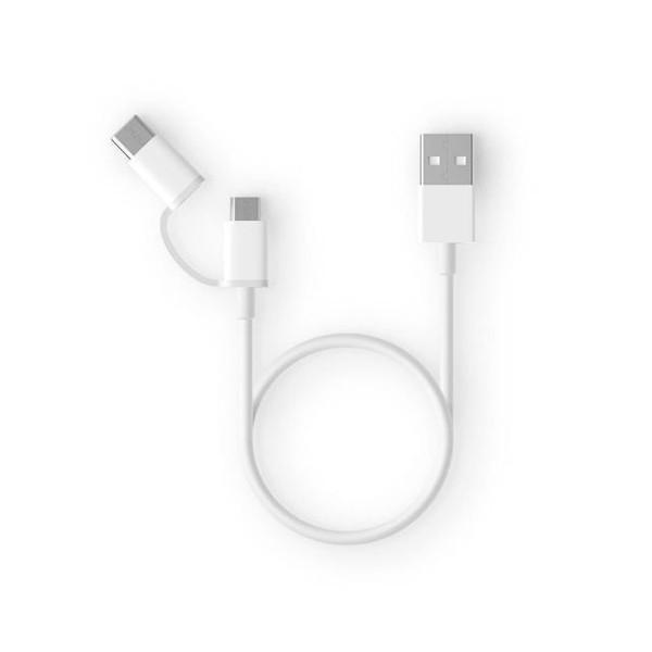 کابل تبدیل USB به USB-C/microUSB زد ام آی مدل al511 طول 0.3 متر