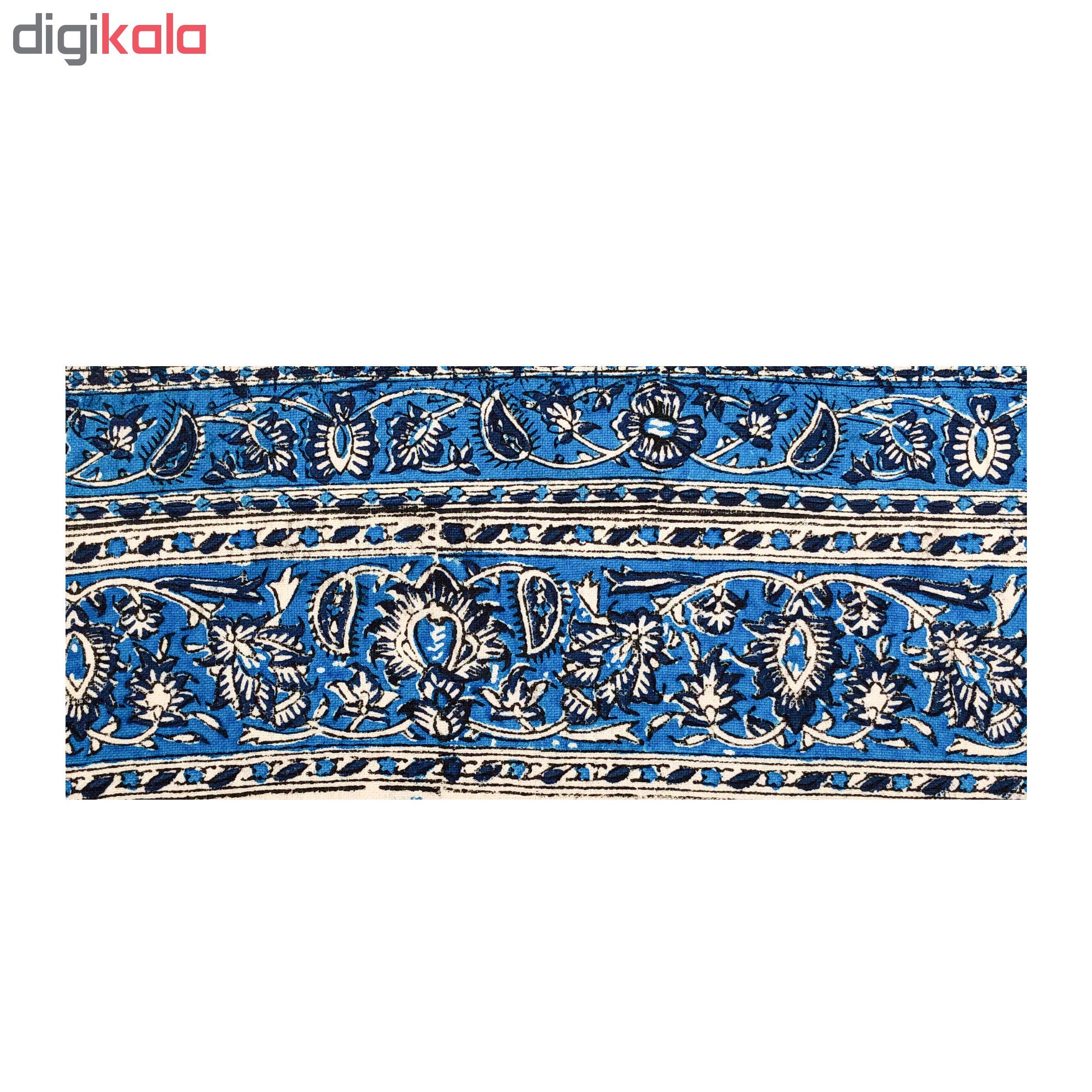 خرید                      رومیزی قلمكار ممتاز اصفهان اثر عطريان طرح درهم بادامي مدل G55 سايز 120*60 سانتي متر