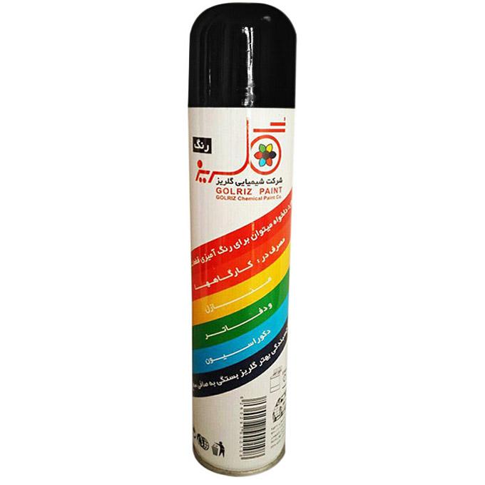 قیمت                                      اسپری رنگ مشکی براق گلریز کد A15 حجم 300 میلی لیتر