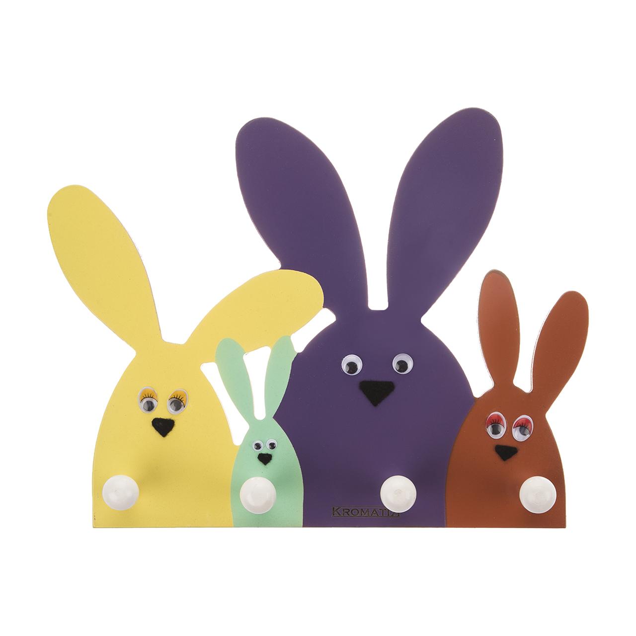 آویز لباس کروماتیک طرح خرگوش مدل KH-R