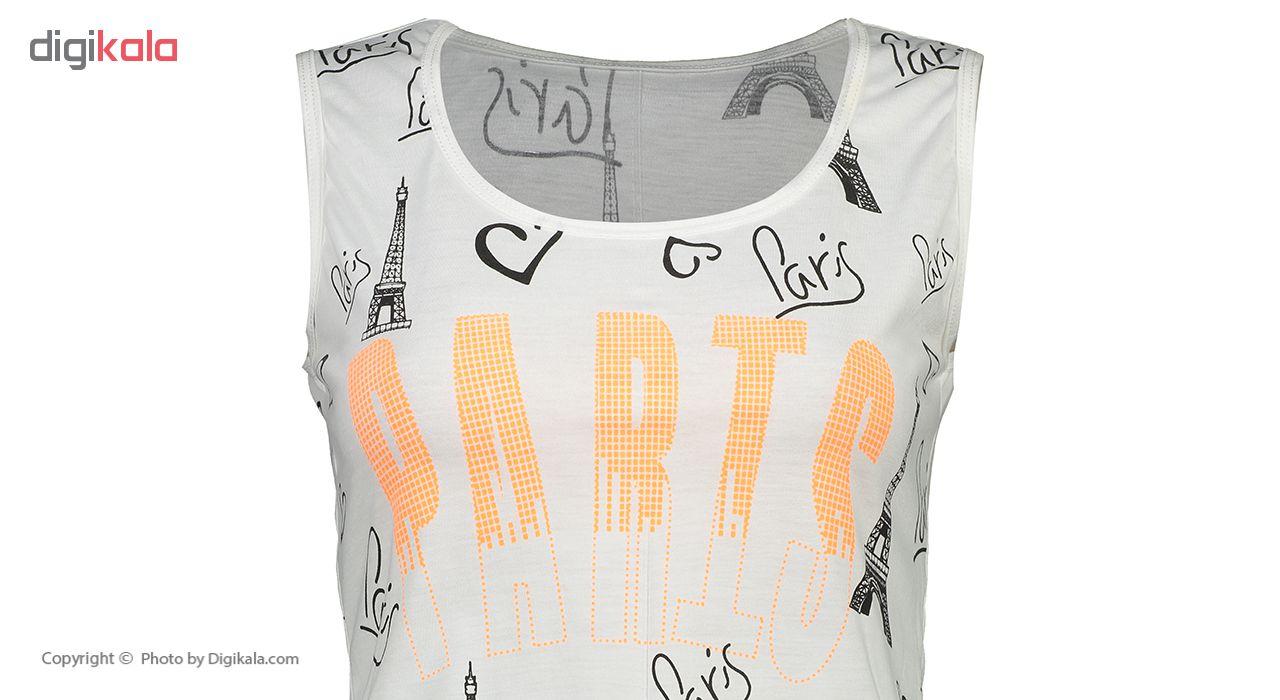 خرید                                      ست تاپ و شلوارک زنانه طرح Paris مدل irsa-06