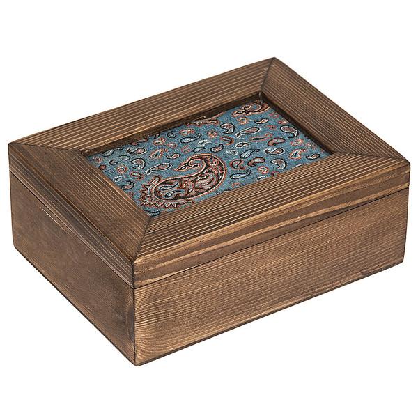 جعبه چوبی گالری زیما طرح ترمه مستطیلی سایز بزرگ