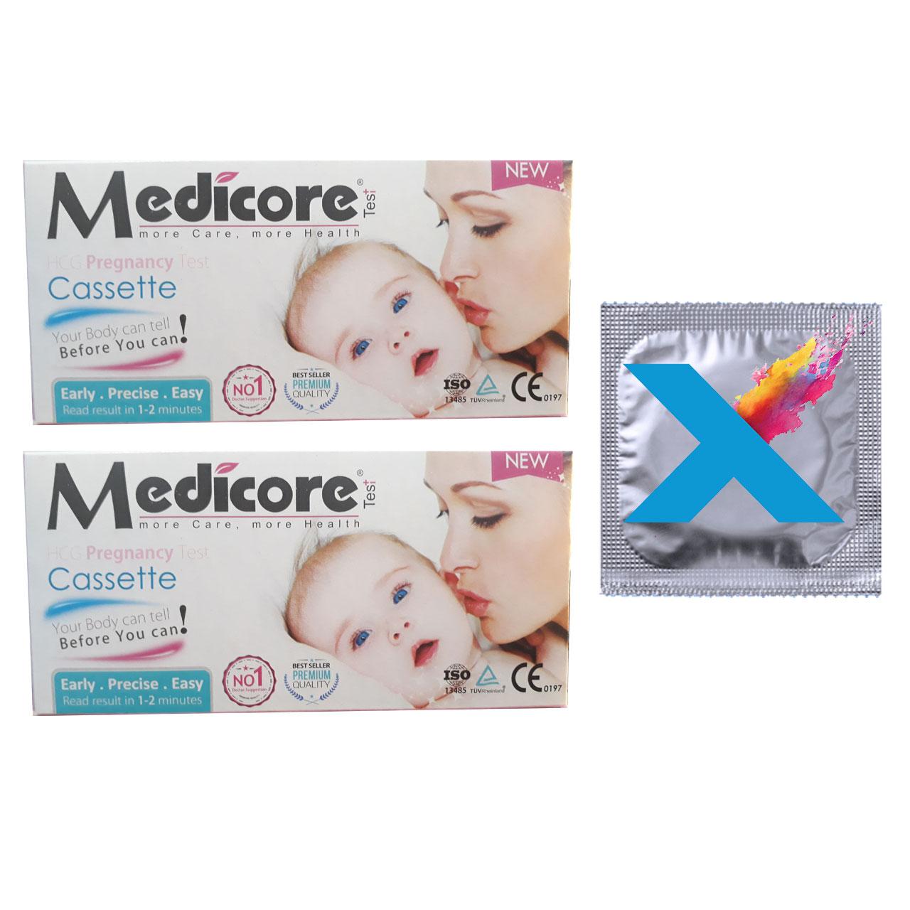 بی بی چک مدیکور مدل Cassette ۹۹.۸٪ مجموعه 2 عددی به همراه کاندوم مدل X