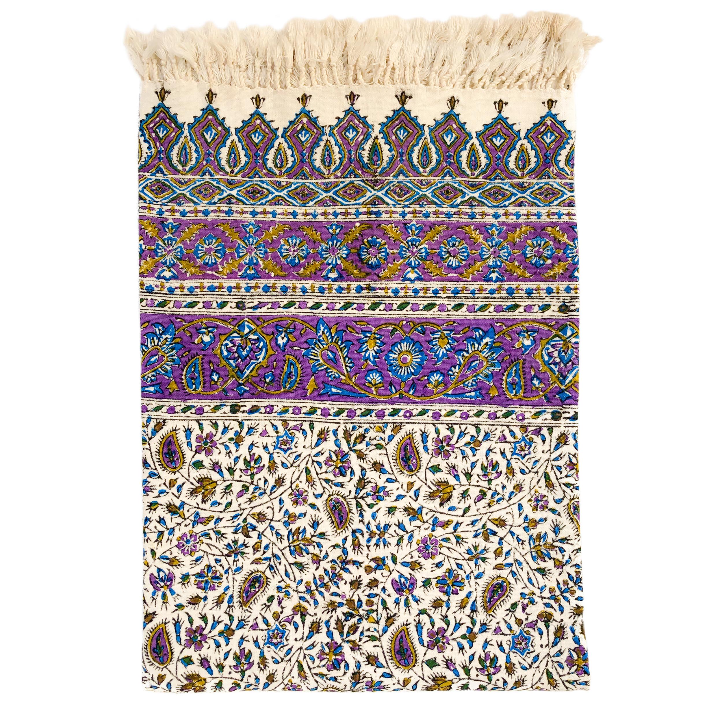 رومیزی قلمكار ممتاز اصفهان اثر عطريان طرح بته جقه مدل G55 سايز200*135سانتي متر
