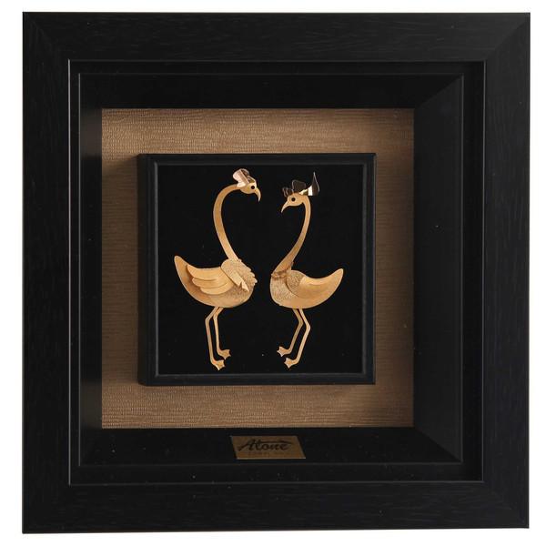 تابلو ورق طلا 24 عیار الون طرح دو غاز کد 198380