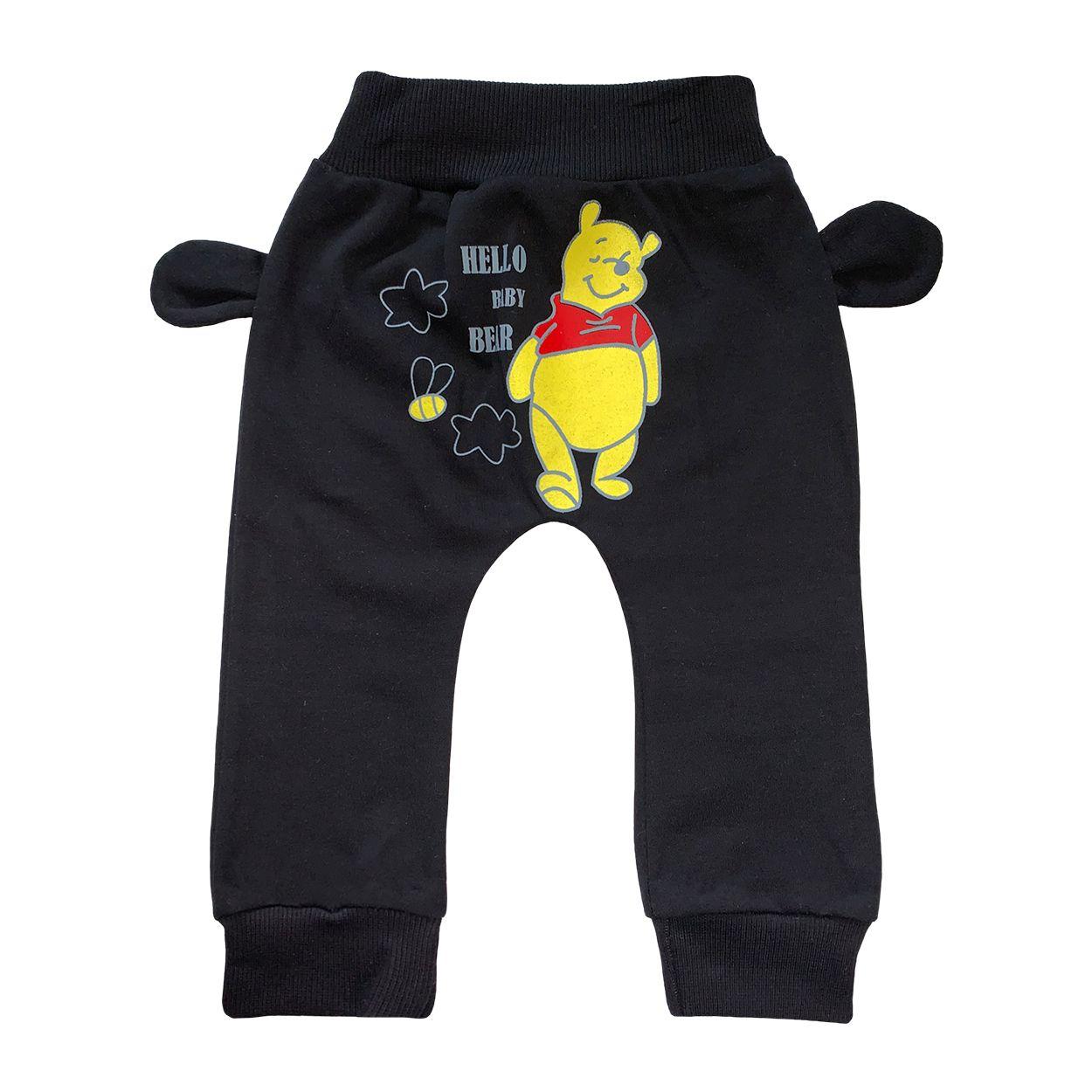 ست تی شرت و شلوار نوزادی طرح پو کد FF-084  -  - 4