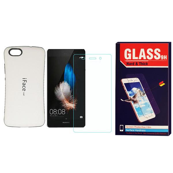 کاور آی فیس مدل I-001 مناسب برای گوشی موبایل هوآوی P8 Lite به همراه محافظ صفحه نمایش Hard and thick مدل F001