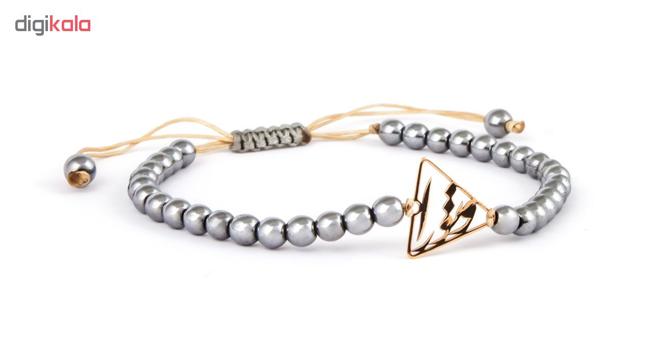 دستبند طلا 18 عیار ریسه گالری مدل H1104-Gold