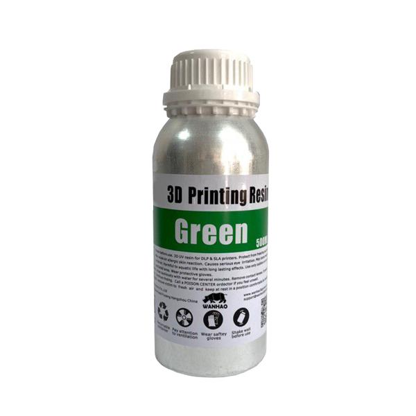قیمت                      رزین پرینتر سه بعدی ونهاو مدل DLP/SLA  رنگ سبز حجم 0.5 لیتر