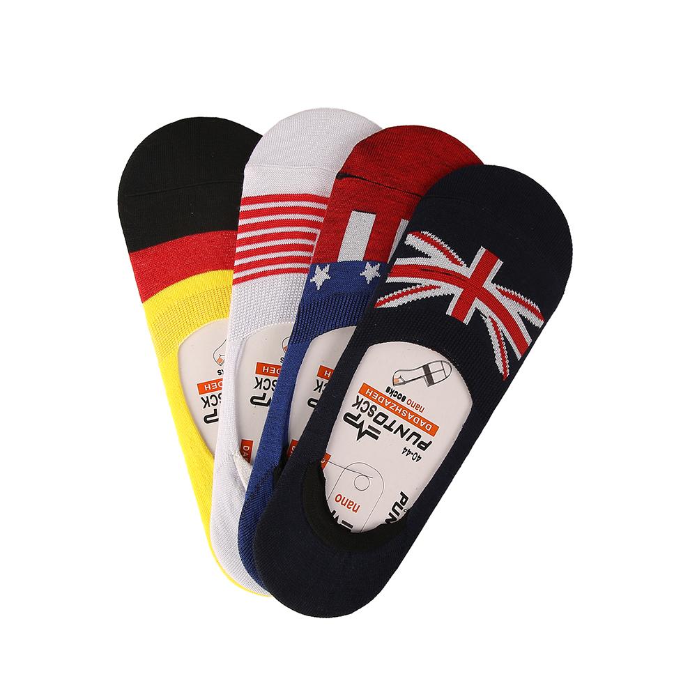 جوراب مردانه پانتو اسك طرح پرچم مجموعه 4 عددي