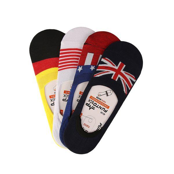 جوراب مردانه پانتو اسک طرح پرچم مجموعه 4 عددی