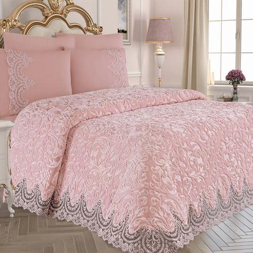سرویس روتختی عروس کالای خواب شمیم مدل Belnay Pink دونفره 6 تکه