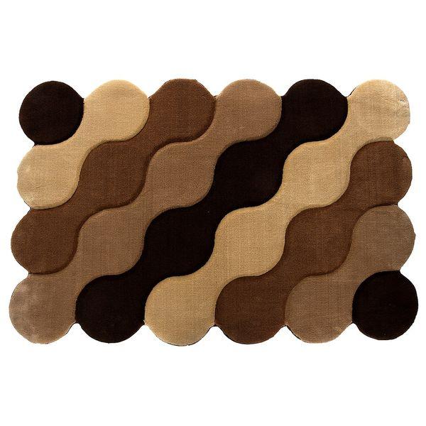 فرش تزیینی زرباف مدل موج سایز 100 × 150 سانتی متر