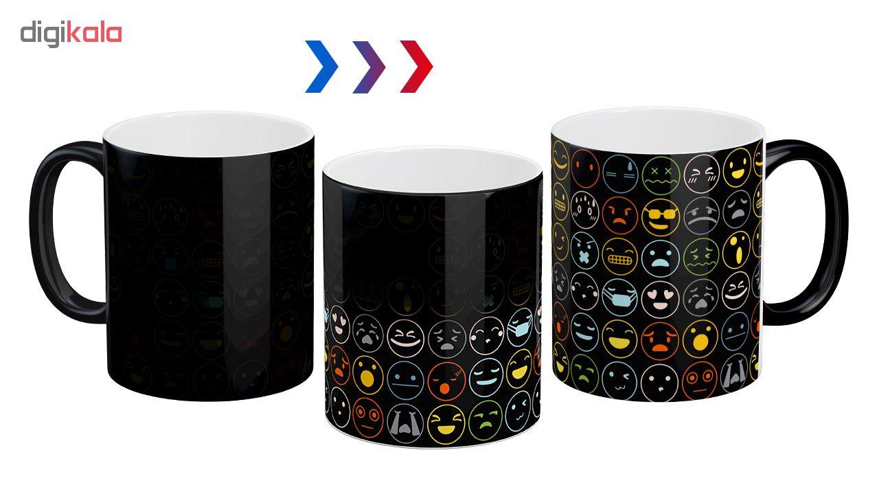 ماگ حرارتی آبنبات رنگی طرح ایموجی کد ARM0050