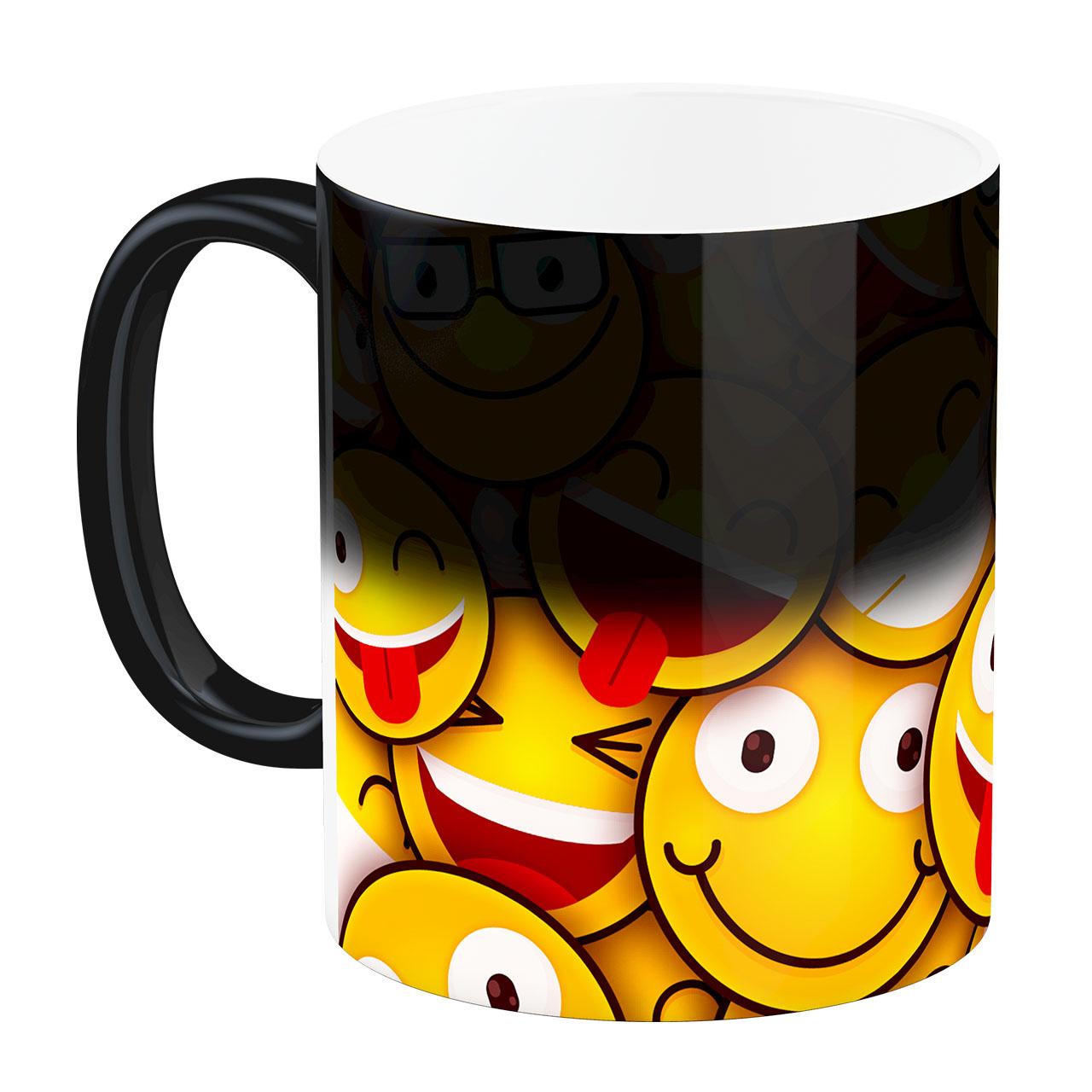 عکس ماگ حرارتی آبنبات رنگی طرح ایموجی Emoji کد ARM0066