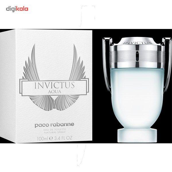 224eccb76 مشخصات، قیمت و خرید ادو تویلت مردانه پاکو رابان مدل Invictus Aqua حجم 100  میلی لیتر   دیجیکالا