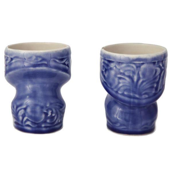 لیوان سرامیکی آبی گالری وریس طرح انار مجموعه دو عددی