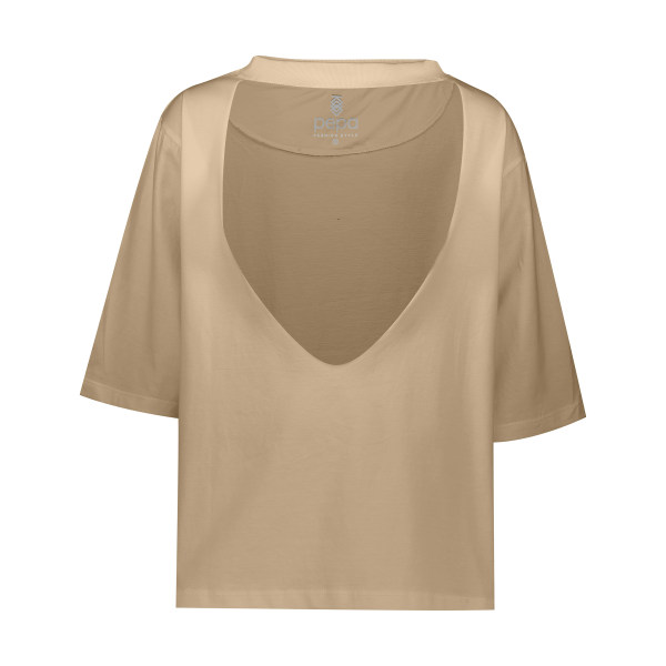 تی شرت آستین کوتاه زنانه مدل Anahata رنگ کرمی